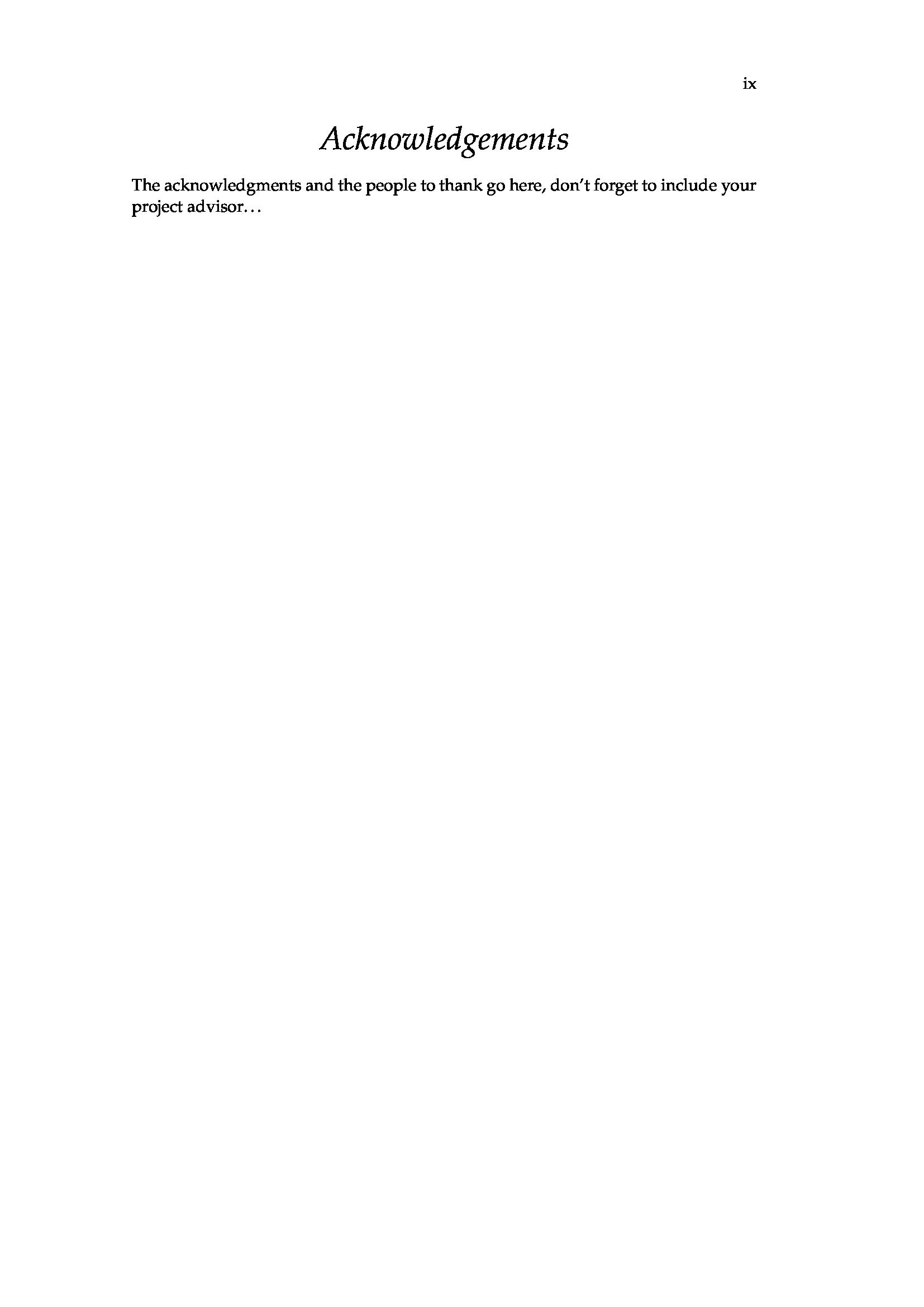 一個典型的英文畢業論文 LaTeX 模板